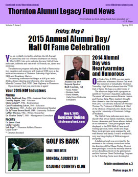 TALF Newsletter, spring 2015. Click image to read the newsletter.
